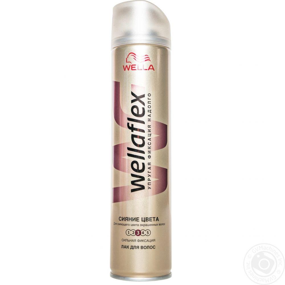 Лак для волос Веллафлекс Сияние цвета СФ 250мл