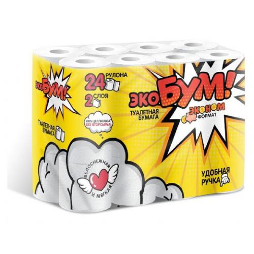 Туалетная бумага ЭкоБум 2 слоя 24 рулона