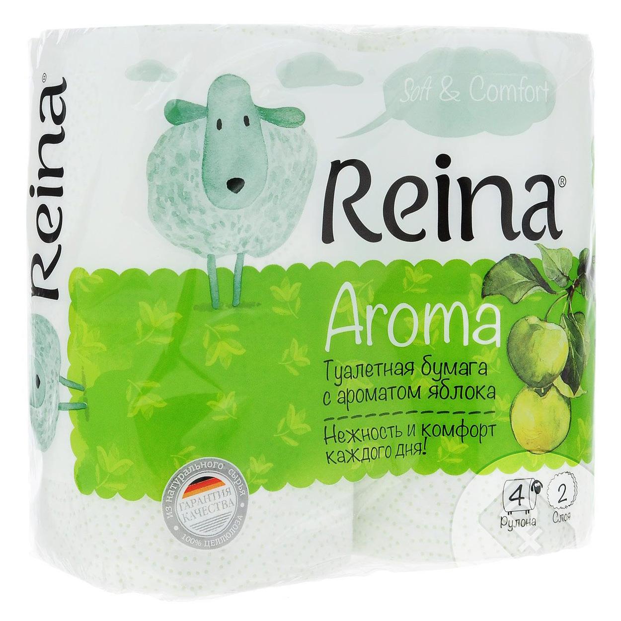 Туалетная бумага Reina Aroma Яблоко 2 слоя 4 рулона