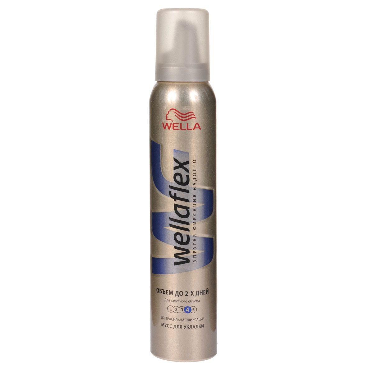 Мусс для волос Веллафлекс Объем для тонких волос ССФ 200мл
