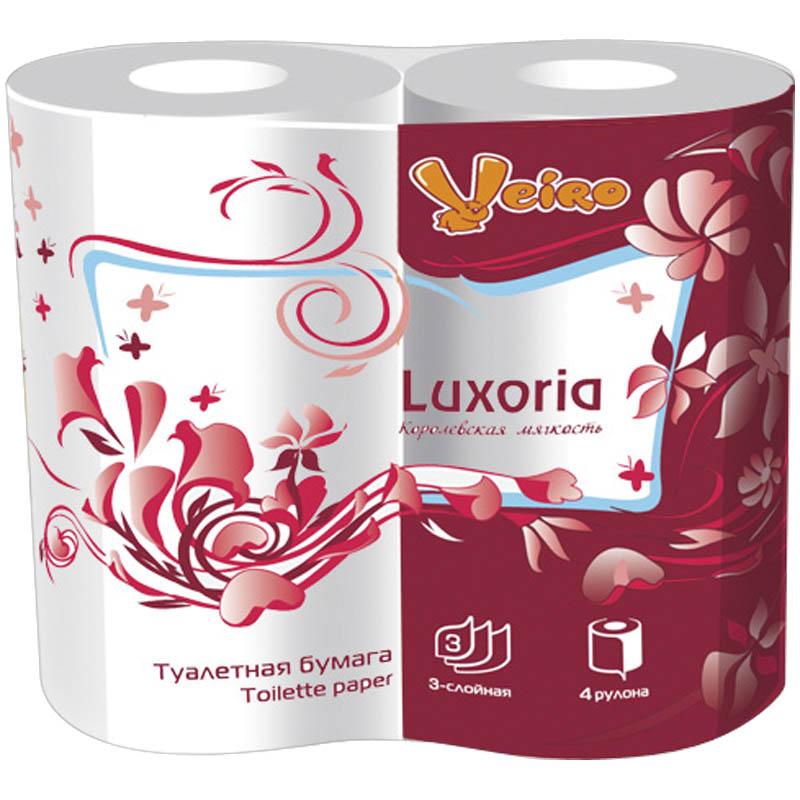 Туалетная бумага Veiro Люксория 3 слоя 4 рулонов