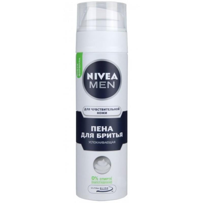 Нивея Пена для бритья для чувствительной кожи Успокаивающая 200мл