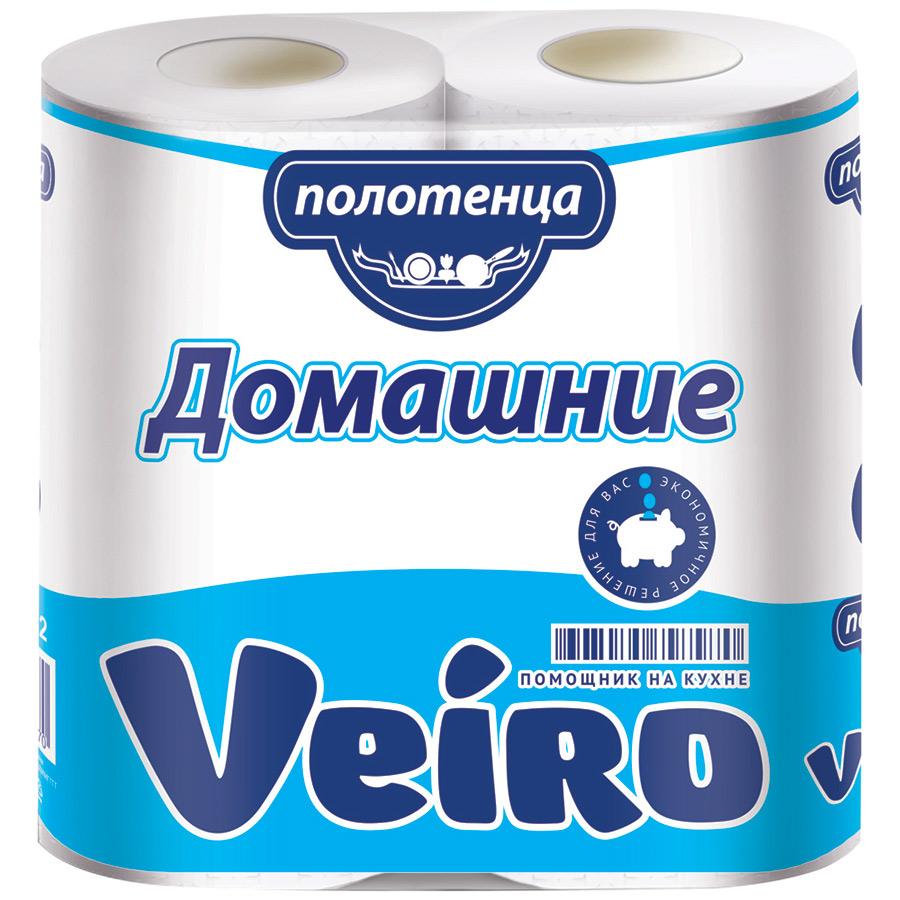 Бумажные полотенца Veiro Домашние 2-слойное 2 рулона