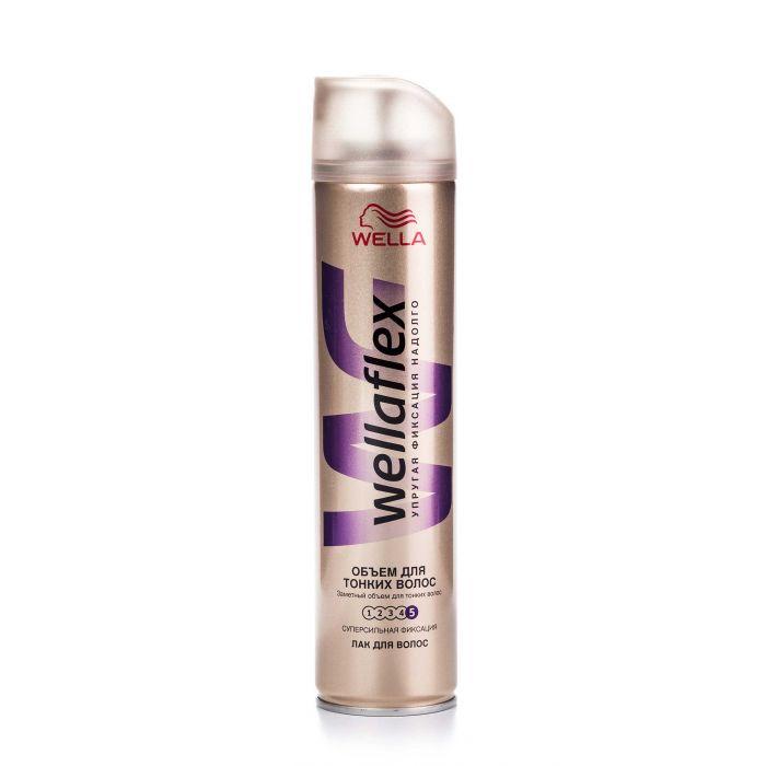 Лак для волос Веллафлекс Объем для тонких волос ССФ 250мл