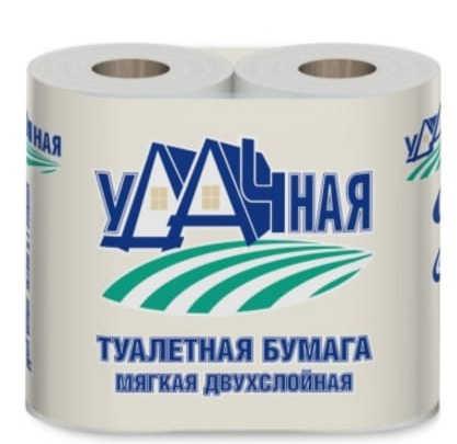Туалетная бумага Viero Удачная 2 слоя 4 рулона