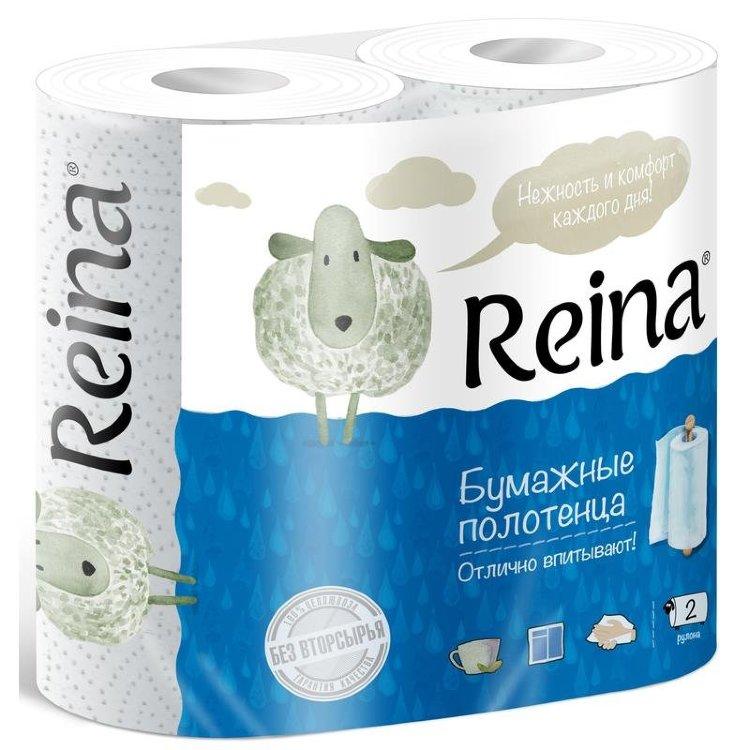 Бумажные полотенца Reina 2 слоя 2 рулона