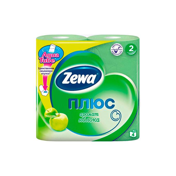 Туалетная бумага Zewa Зеленое Яблоко 2 слоя 4 рулона