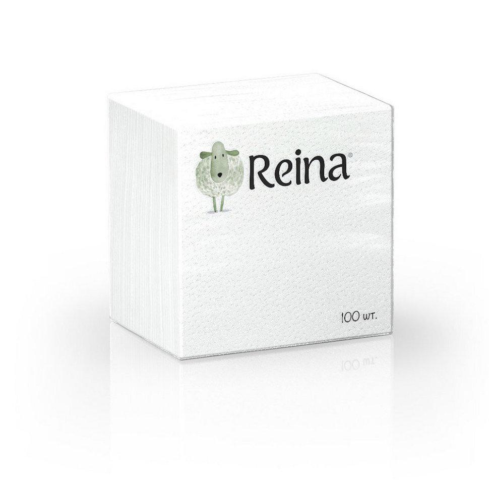 Салфетки бумажные Reina 1 слой 100 шт
