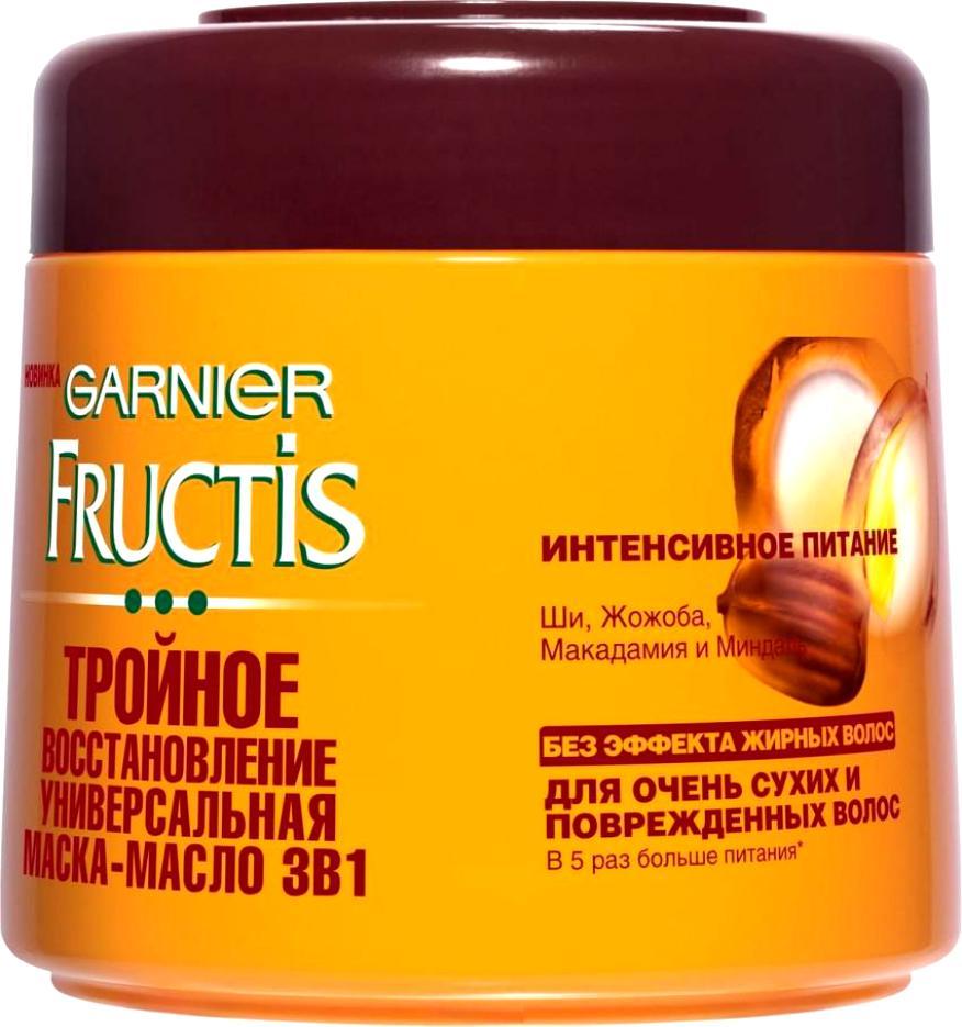 Маска-масло Фруктис Тройное Восстановление (Ши, Жожоба Макадамия и Миндаль) для очень сухих и поврежденных волос 300 мл