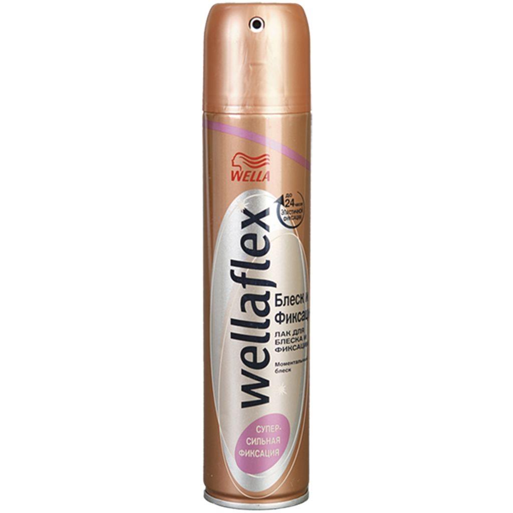 Лак для волос Веллафлекс Блеск и Фиксация ССФ 250мл