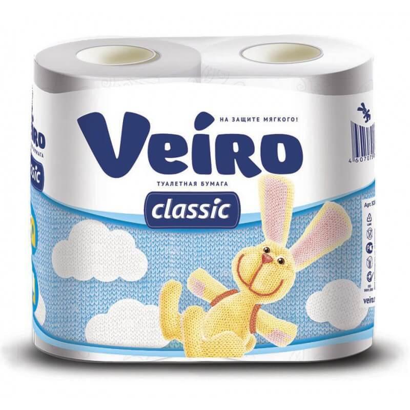 Туалетная бумага Veiro Классик 2 слоя 4 рулона