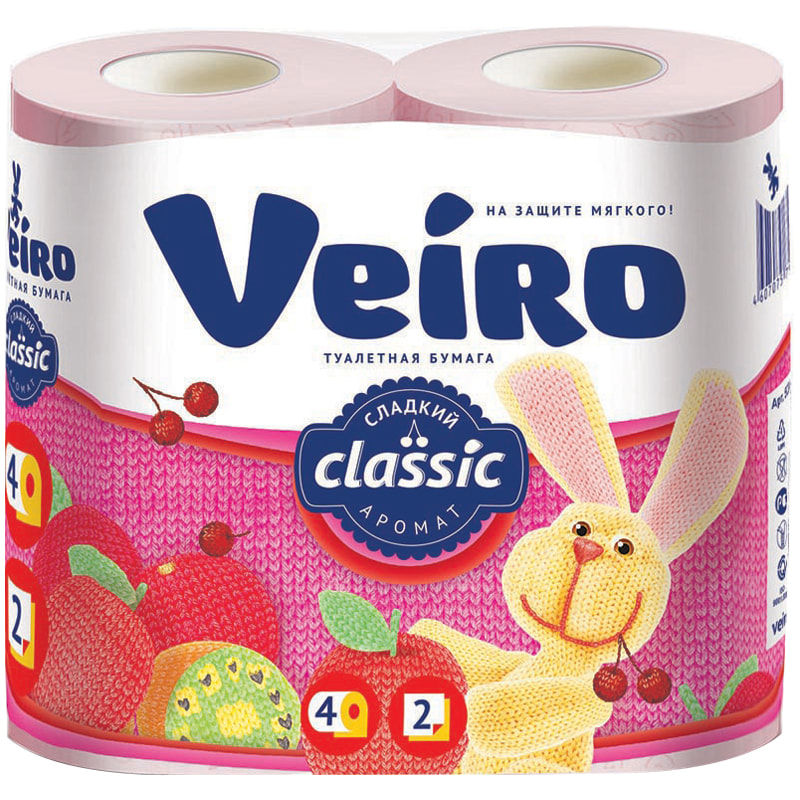 Туалетная бумага Veiro Классик Сладкий аромат 2 слоя 4 рулона