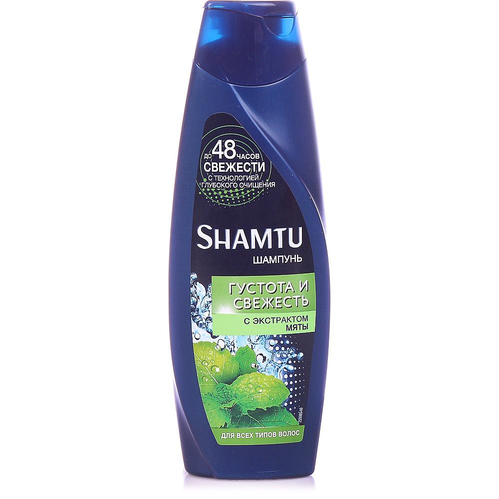 Шампунь для мужчин Шамту Густота и Свежесть (С Экстрактом Мяты) для всех типов волос 360 мл