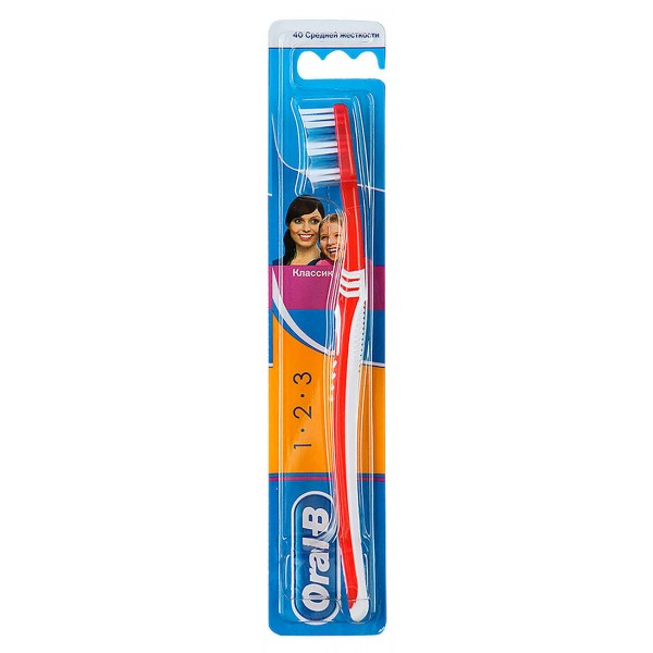 Зубная щетка Oral-B 1-2-3  Чистота Свежесть Даже между зубов