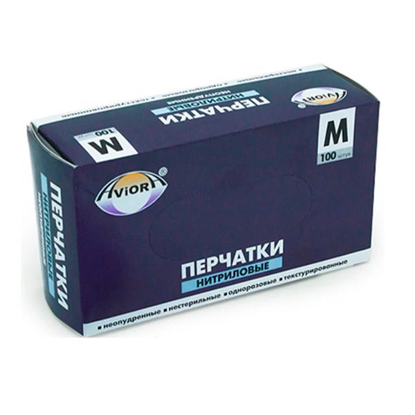 Перчатки виниловые неопудренные в коробке AVIORA M