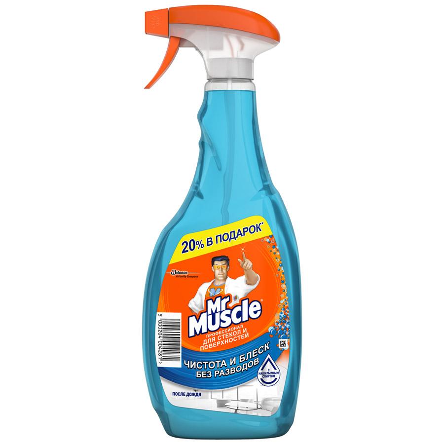 Моющее средство для стекол Мистер Мускул После дождя (синий) 500мл