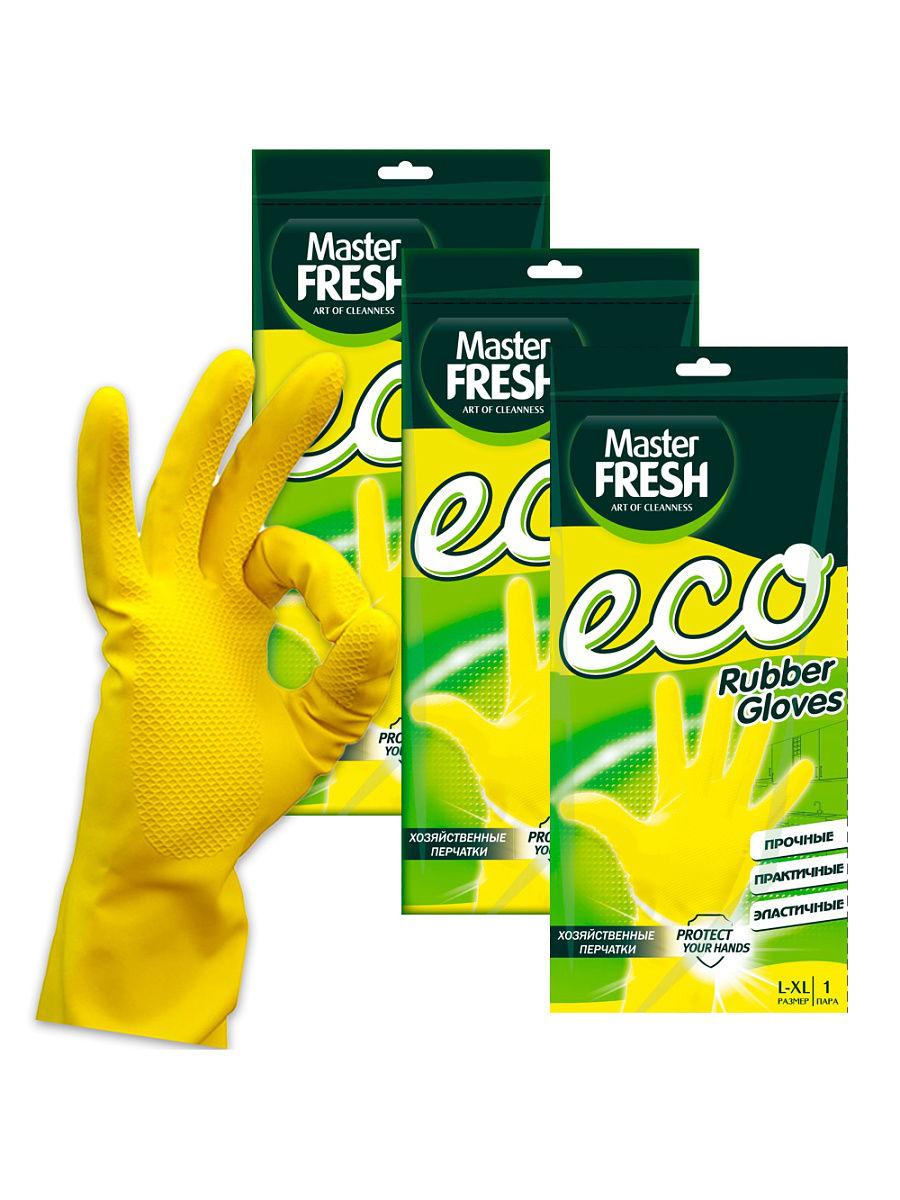 Перчатки резиновые Мастер Фреш Эко S/M