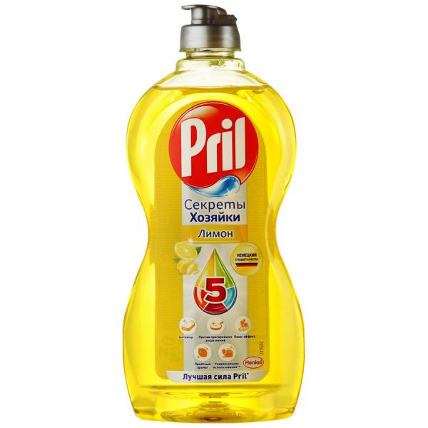 Средство для мытья посуды Прил Лимон 450мл