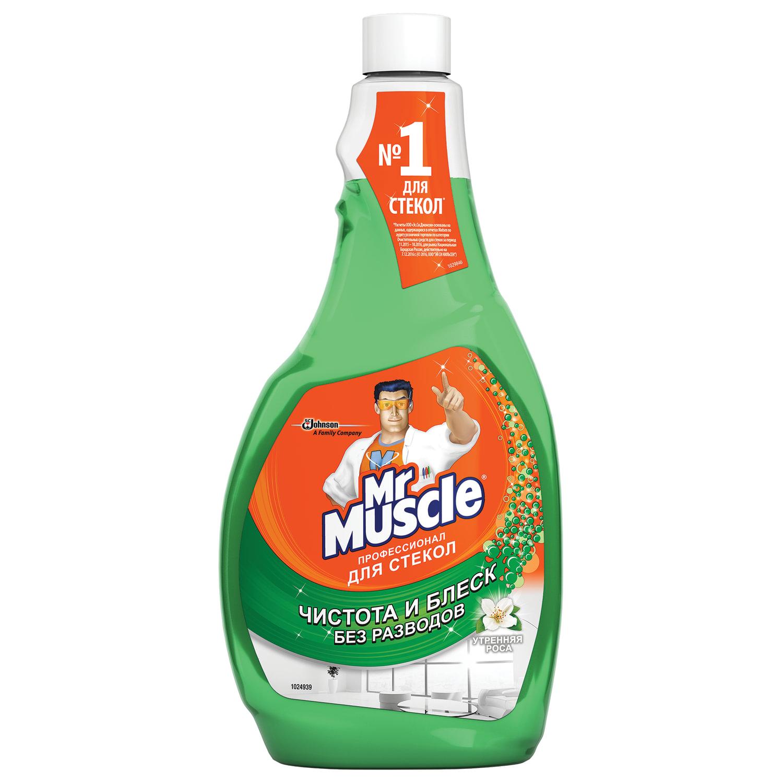 Моющее средство для стекол Мистер Мускул Утренняя роса (зеленый) 500мл