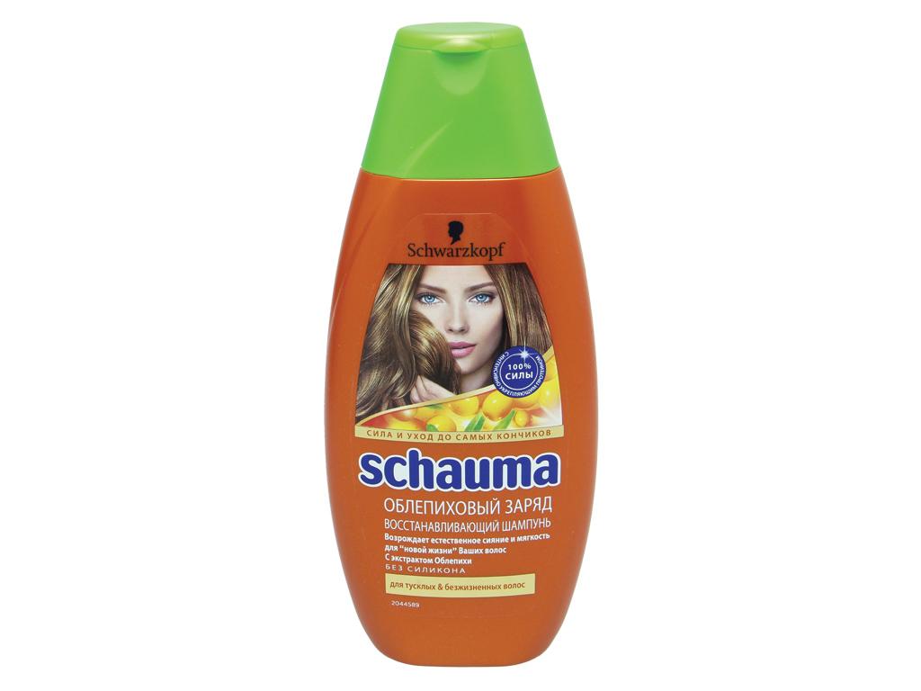Шампунь Шаума Восстанавливающий Облепиховый заряд (Для тусклых и безжизненных волос) 380 мл