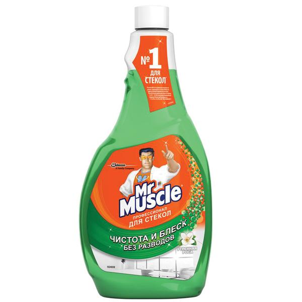 Моющее средство для стекол Мистер Мускул Утренняя роса (Сменная бутылка) 500мл