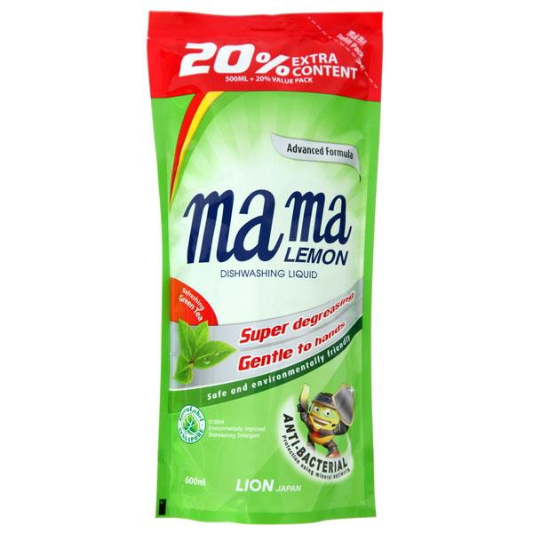 Гель для мытья посуды Mama Lemon ДОЙ-ПАК Зеленый чай 600мл