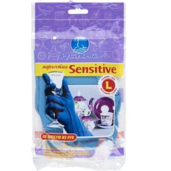 Перчатки резиновые  Русалочка Sensitive L