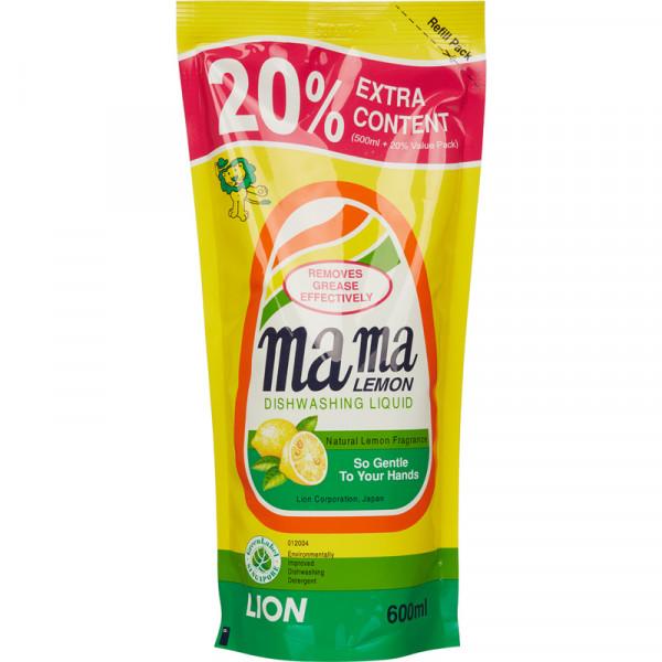 Гель для мытья посуды Mama Lemon ДОЙ-ПАК Лимон 600мл