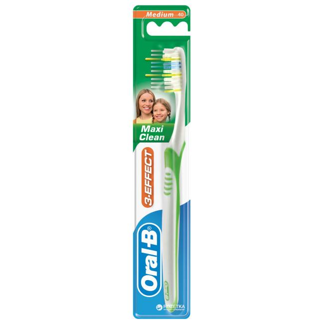 Зубная щетка Орал Би Vision 3 ЭФФЕКТ Maxi Clean