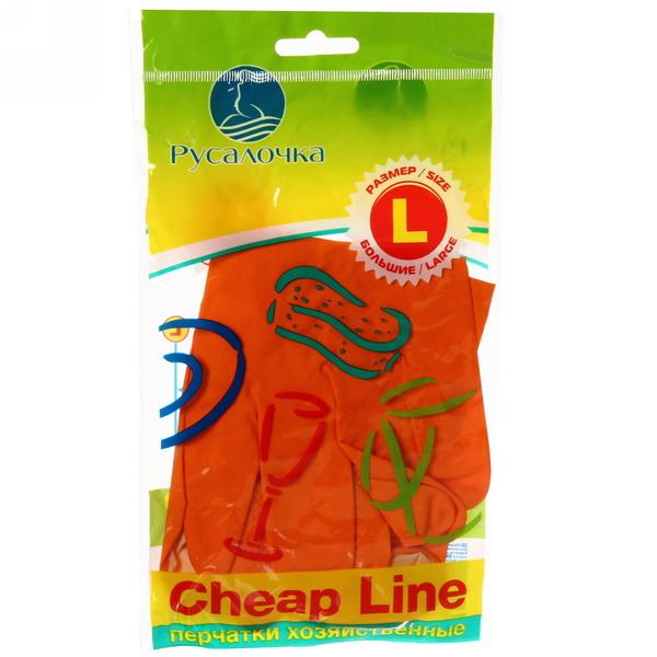 Перчатки резиновые  Русалочка cheap line L