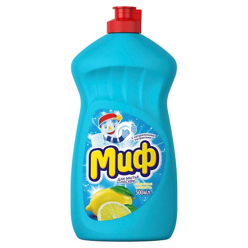 Средство для мытья посуды Миф Лимонная Свежесть 500мл