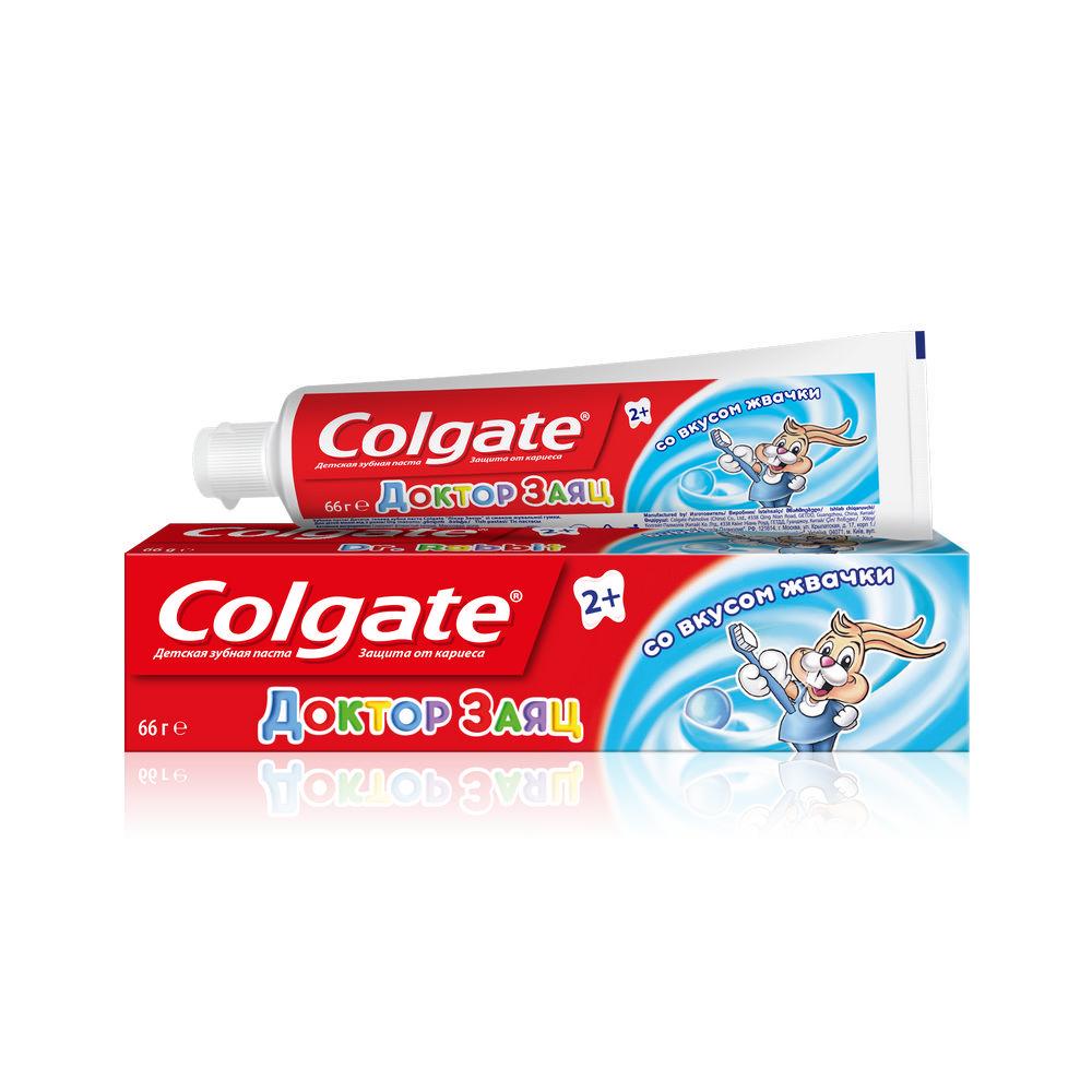 Зубная паста Колгейт детская Доктор Заяц вкус Жвачки 50мл