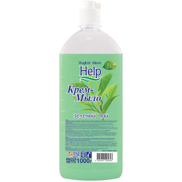 Жидкое мыло Help Зеленый чай 1000 мл