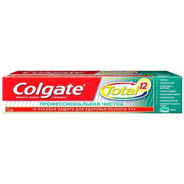 Зубная паста Колгейт Total 12 Профессиональная чистка 75мл