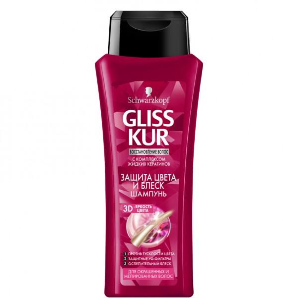 Шампунь Gliss Kur Защита Цвета и Блеск для окрашенных или мелированных волос 250 мл