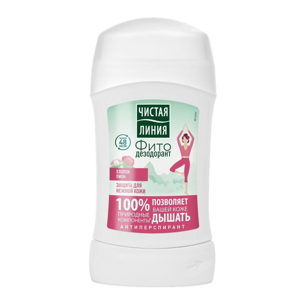 Дезодорант-стик Чистая Линия для нежной кожи 40 мл