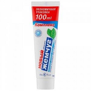 Зубная паста Новый Жемчуг Аромат сильной мяты 100 мл