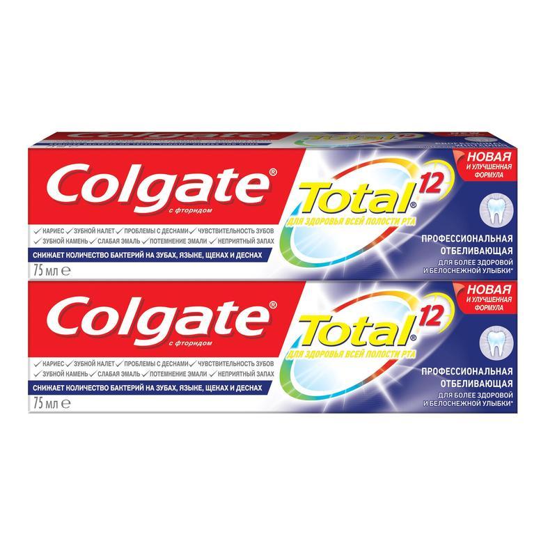 Зубная паста Колгейт Total 12 Профессиональная Отбеливающая 75мл
