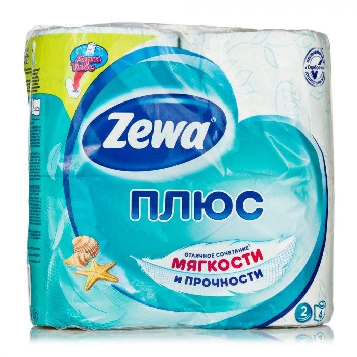 Туалетная бумага Zewa Плюс Белая 2 слоя 4 рулона