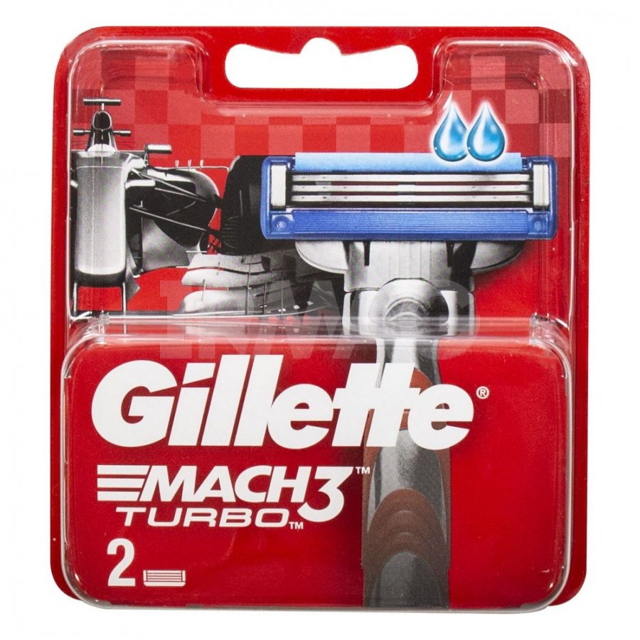 Сменные кассеты Gillette Mach3 Turbo RED 2шт