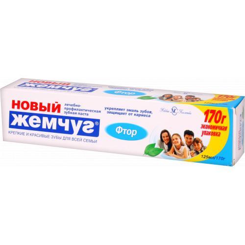 Зубная паста Новый Жемчуг Фтор 125 мл