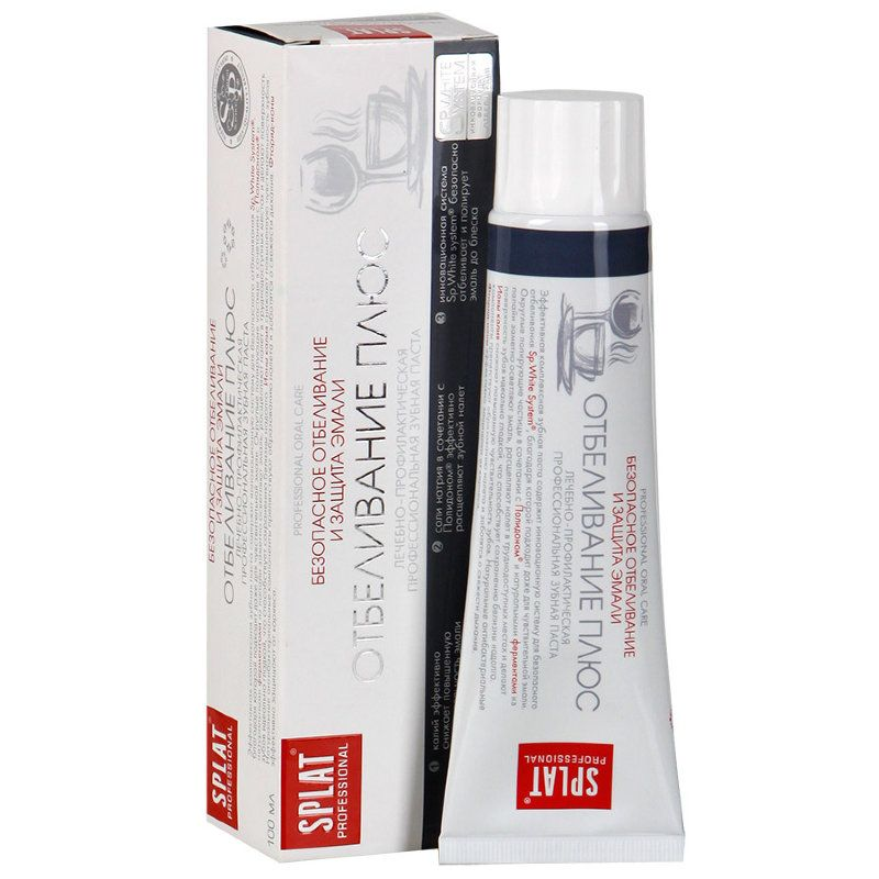 Зубная паста Сплат Отбеливание плюс Безопасное отбеливание и защита эмали 100 мл