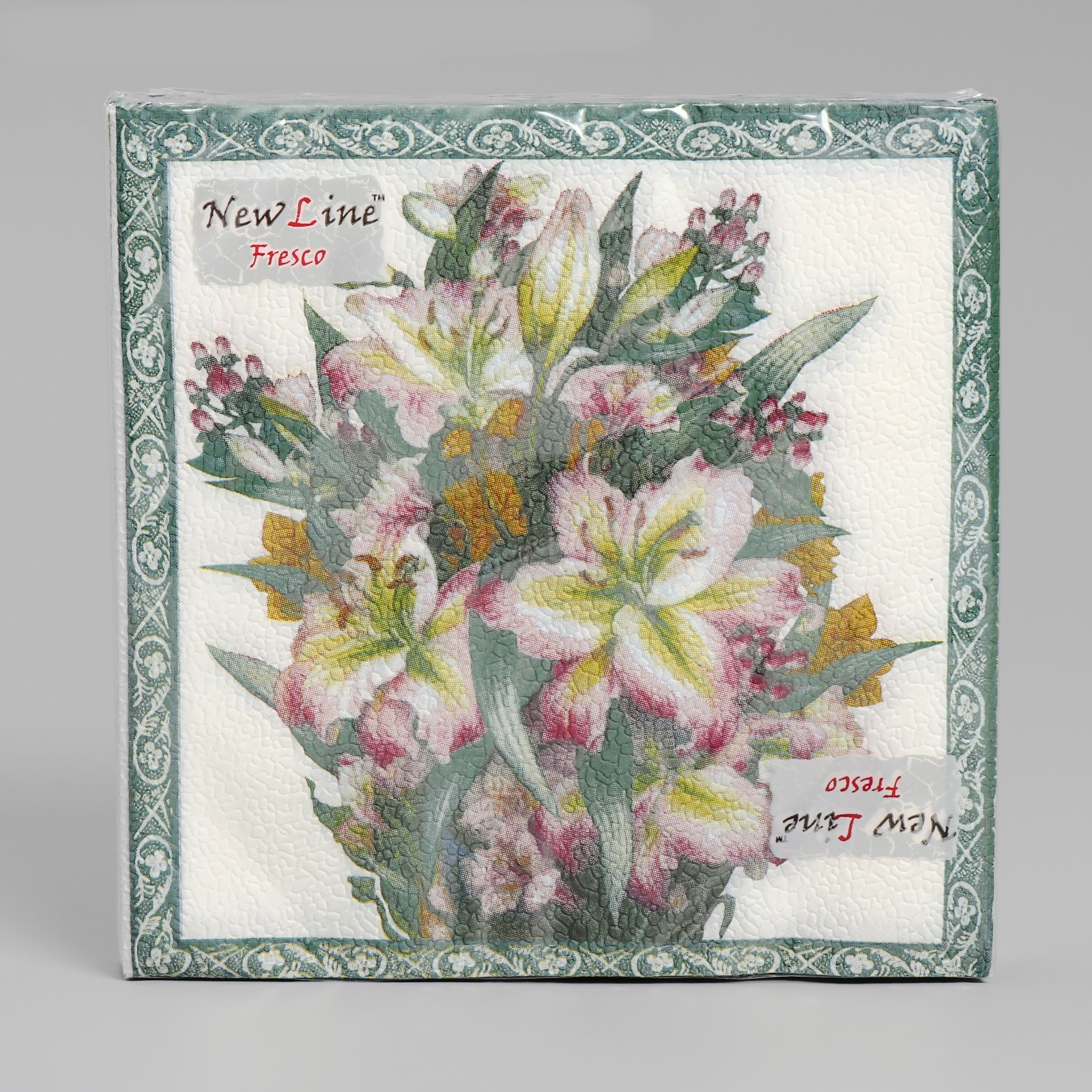 Салфетки Фреско Полевые цветы 2-х слойные 33*33 (20 шт)