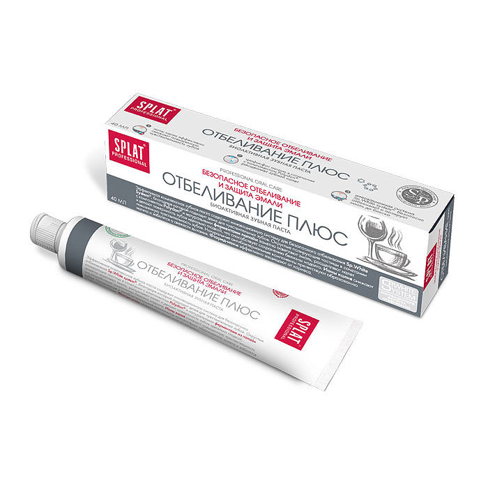 Зубная паста Сплат Отбеливание плюс Безопасное отбеливание и защита эмали 40 мл