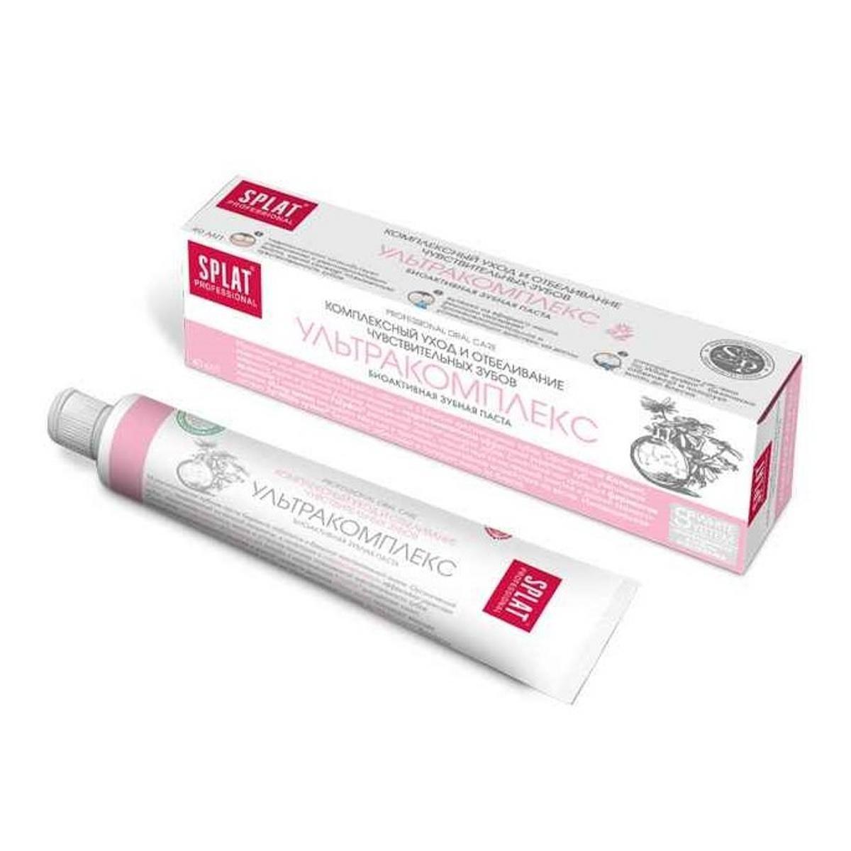 Зубная паста Сплат Ультракомплекс Уход и отбеливание чувствительных зубов 40 мл