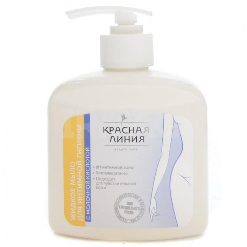 Жидкое мыло для интимной гигиены Красная линия с молочной кислотой 250 г