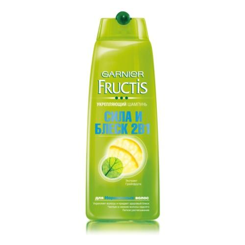 Шампунь Фруктис Сила и Блеск 2в1 (Витамины B3 и B6, экстракт грейпфрута) для нормальных волос 400 мл