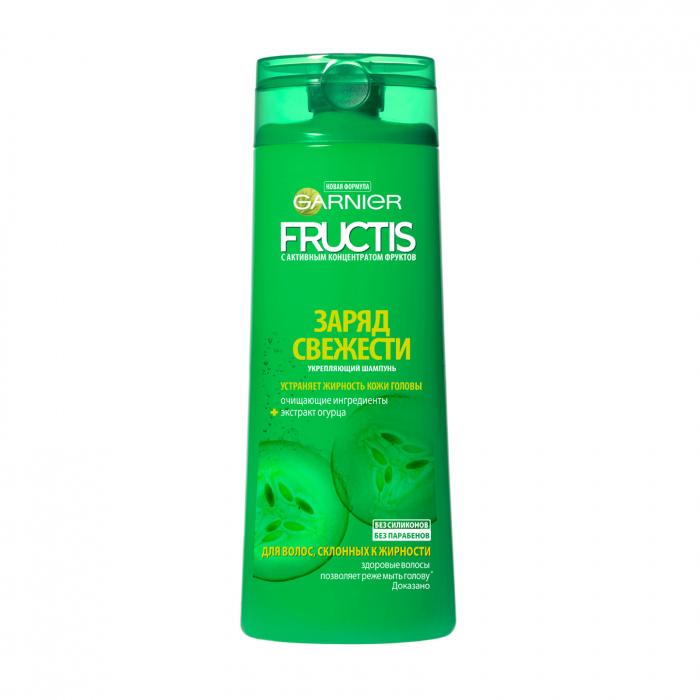 Шампунь Фруктис Огуречная Свежесть (Витамины B3 и B6) для волос, склонных к жирности 250 мл