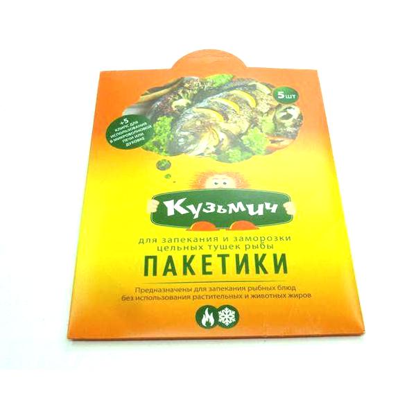 Пакет для запекания Кузьмич 5 клипс 350*400мм