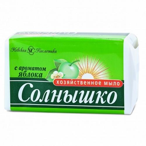 Мыло хозяйственное Солнышко Яблоко 140 г